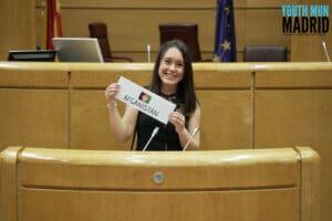Lucía Sobrado llevó al Senado y a la ONU su defensa de la mujer