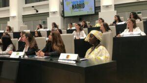 Delegadas de la ONU por un día: 60 estudiantes simulan sesiones de Naciones Unidas en Madrid